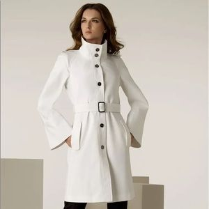 White Burberry Bell Sleve Trench coat